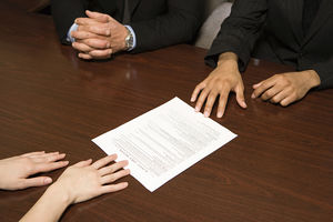 Businesspeople With Resume